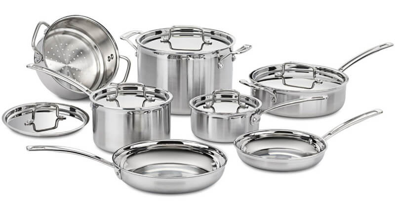 Induction-Ready Stainless Steel Cookware Set