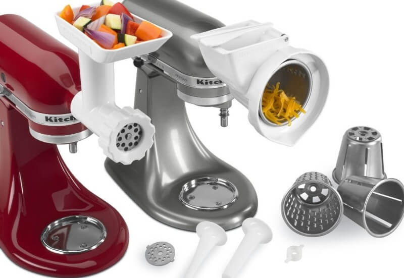 a variety of stand mixer attachments.
