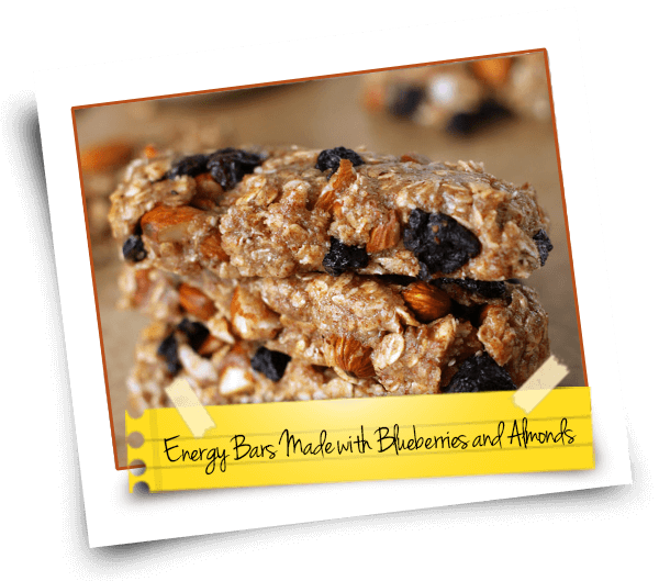 Energy Bars Made with Blueberries and Almonds