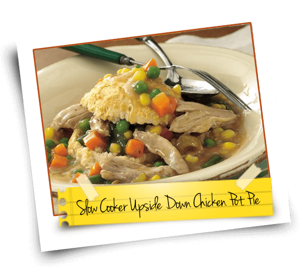 Slow Cooker Upside Down Chicken Pot Pie