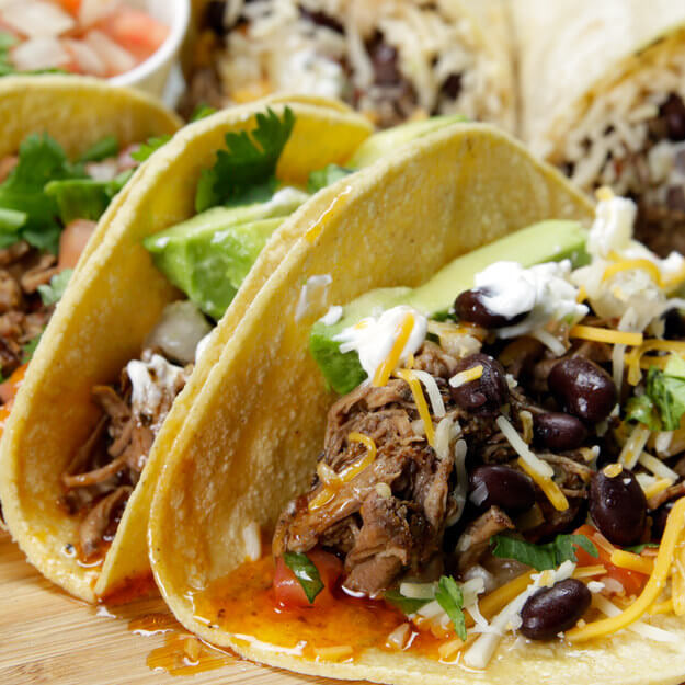Slow Cooker Beef Barbacoa Tacos With Tomatillo Salsa: Delicious Beef Tacos Made In A Slow Cooker